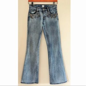 Vintage caché boot cut jeans